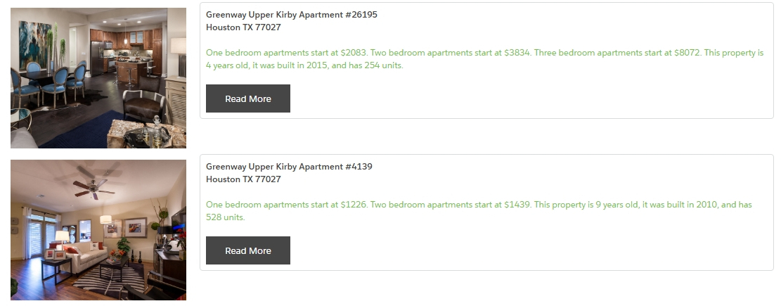 Apartment IDX List